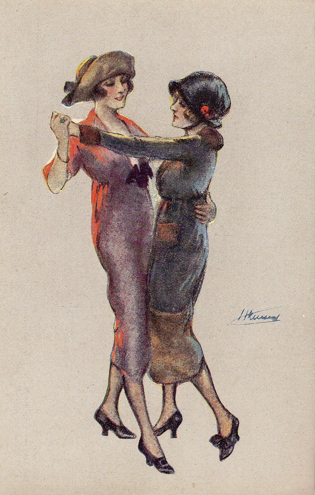 1920s postcard from the collection of Terry Castle. Lesbian Art, 1920s,  Lgbt,
