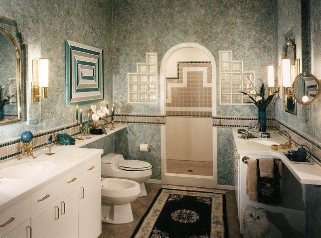 Art Deco Master Bathroom 1 Of 2 Bathroom Style Art Deco Home Art Deco Bathroom