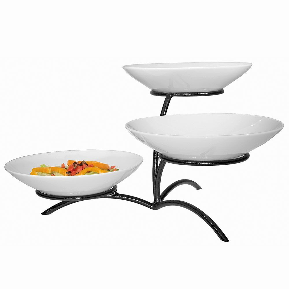 Amazon Com Gibson 3 Tiered Oval Chip And Dip Set With Metal Rack Three Tier Dessert And Snack Server Chip Chip And Dip Sets Snack Servers Serving Bowl Set