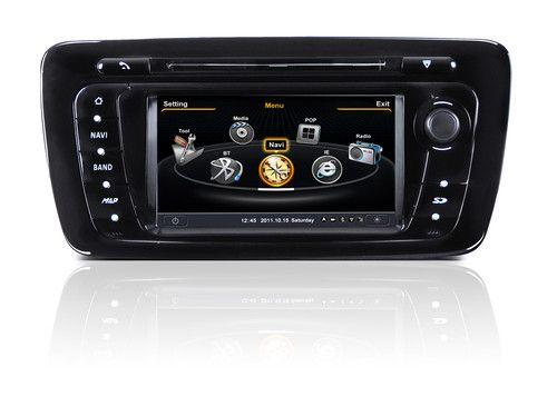 Auto Rádio Seat Ibiza 6J Navegação GPS DVD USB SD Bluetooth