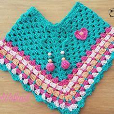 #kinderponcho #babyponcho #leukomtehaken www.dewolkast.nl   www.facebook.com/dewolkast #babyponcho