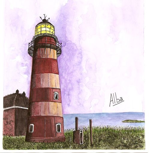 Lighthouse -  Ilha do Arvoredo -  Florianópolis Watercolor