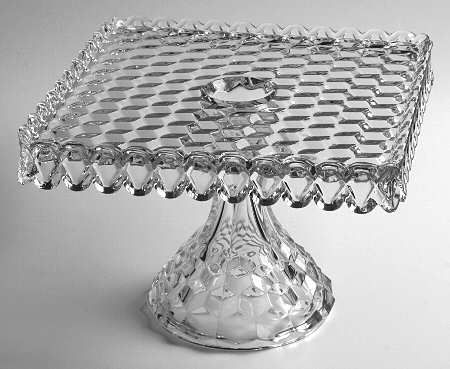 Fostoria Early American Clear Square Cake Stand 143710 In