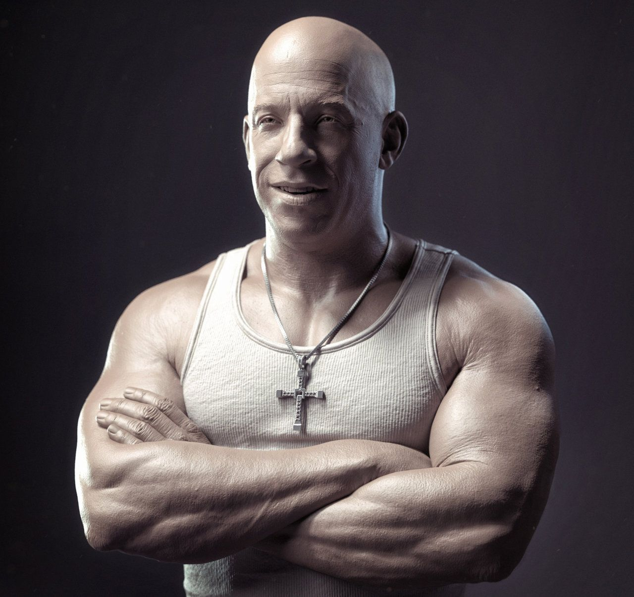 Vin_sculpt, created by Sandeep VS using Zbrush, Arnold and