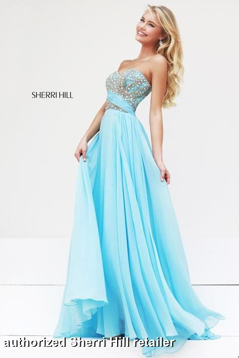 Prom Dresses 2014 - Sherri Hill 3914 Long Chiffon | Prom | Pinterest