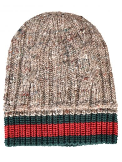 a747ba092 GUCCI Gucci Web Stripe Beanie. #gucci #hats Gucci Beanie, Mens Beanie Hats