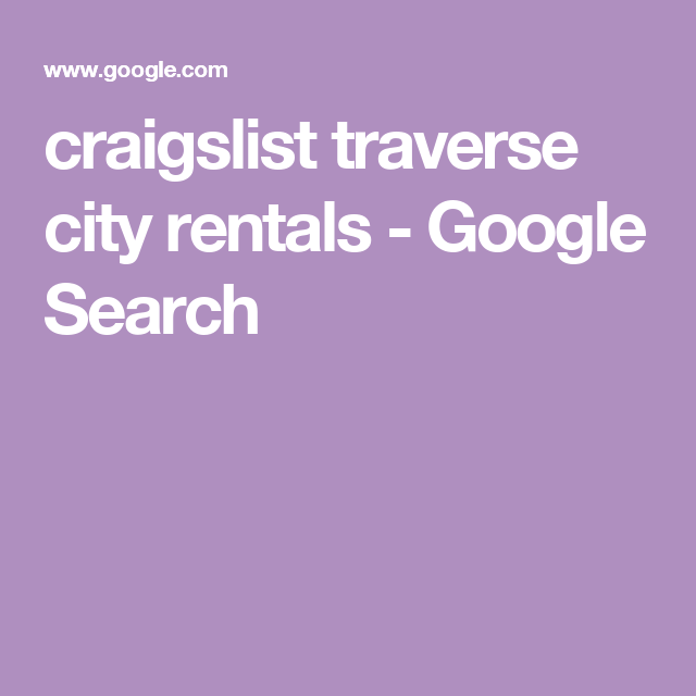 Craigs list traverse city