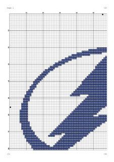 Tampa Bay Lightning Logo Cross Stitch Pattern Tango Stitch Tampa Bay Lightning Logo Lightning Logo Cross Stitch
