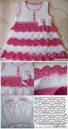Beautiful dress for girls crocheted | Clew #crochetdressesbeautiful