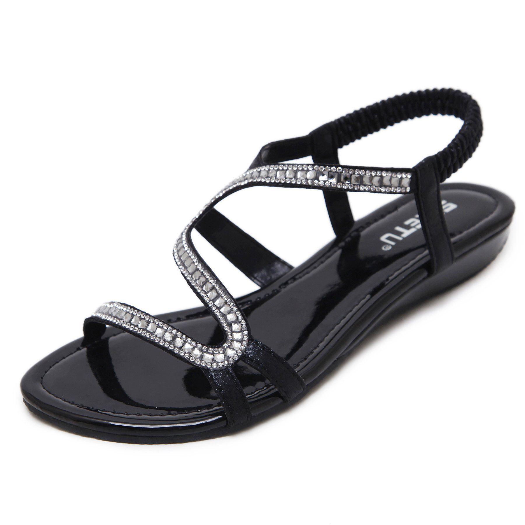 5357661e158577 Designer diamond design Female Summer Sandals Rhinestone Wedges Fashion Women  Sandals  dresses  womensclothing