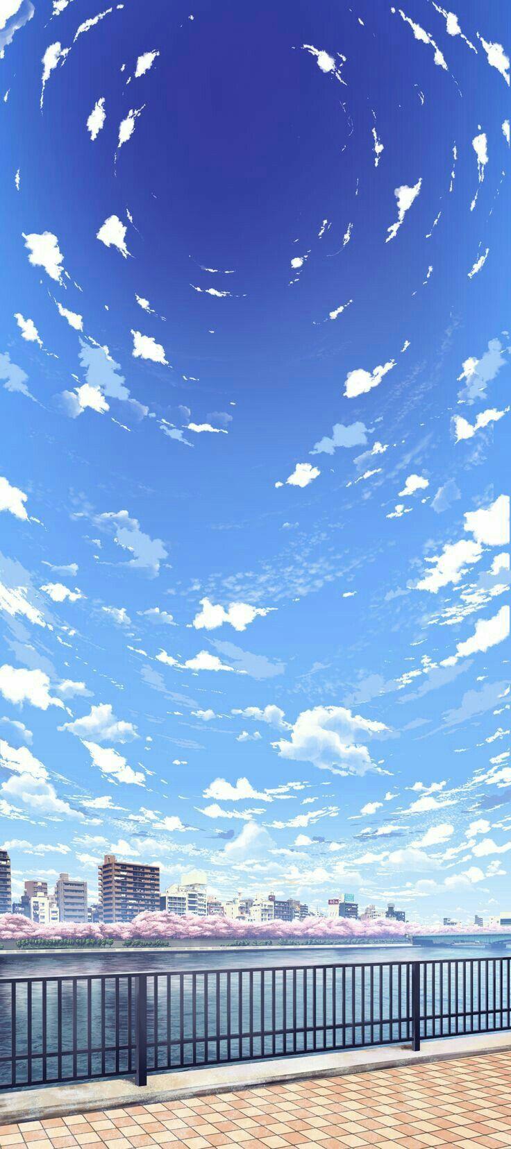 Animewallpaper Wallpaper Kawaii Sky Ezmkurd خلفيات انمي انمي غلاف Anime Sky Wallpaper Anime Scenery Landscape Wallpaper Scenery Wallpaper