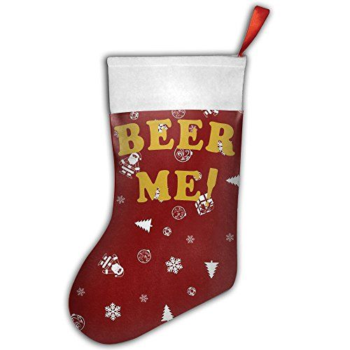 beer me funny classic christmas stockings xmas party mantel decorations ornaments gifttreat bags 16inch
