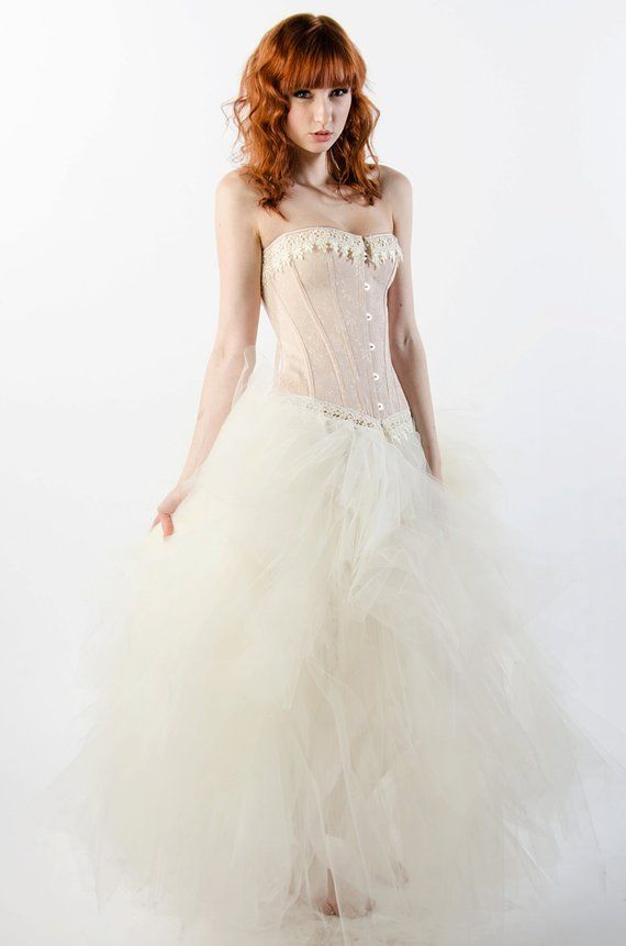 Custom Ivory Dream Prom Dress Wedding Evening Gown Corset