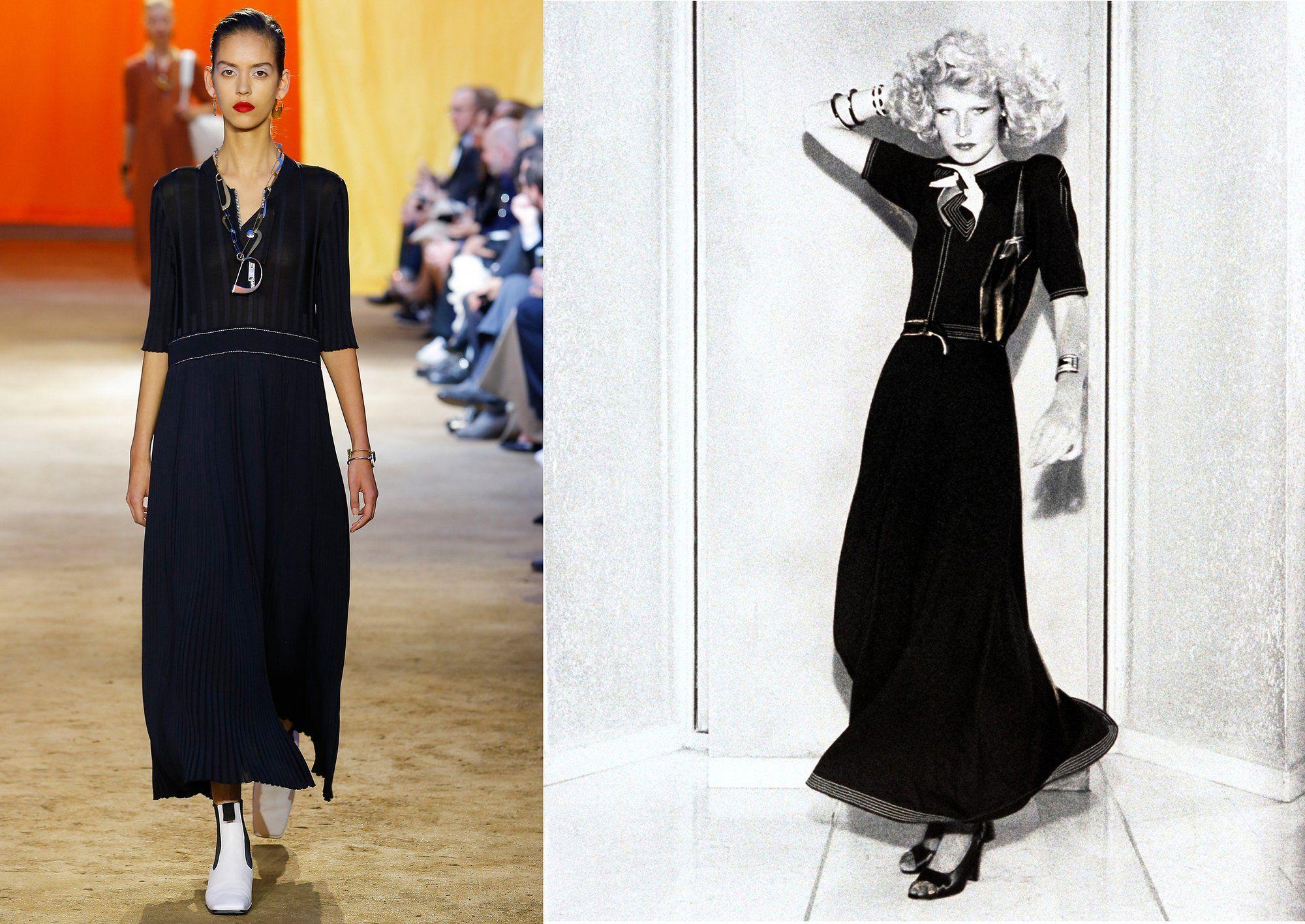 Céline, Spring 2016; Jean Muir in Vogue, 1974