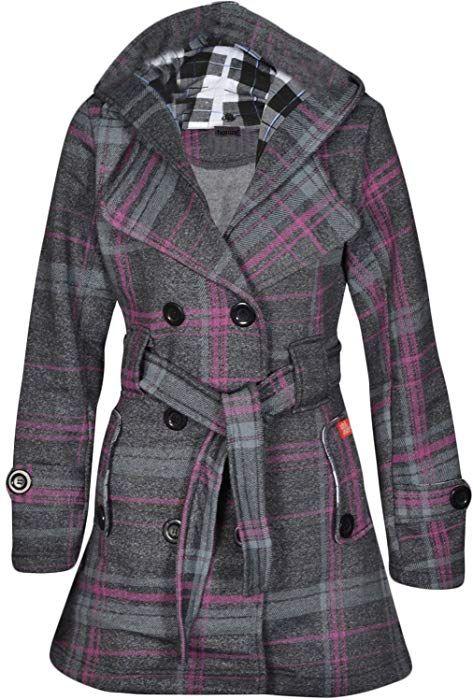 Herbst Winter Damen Jacke Noroze Mantel stylischer Fleece EH9IDW2