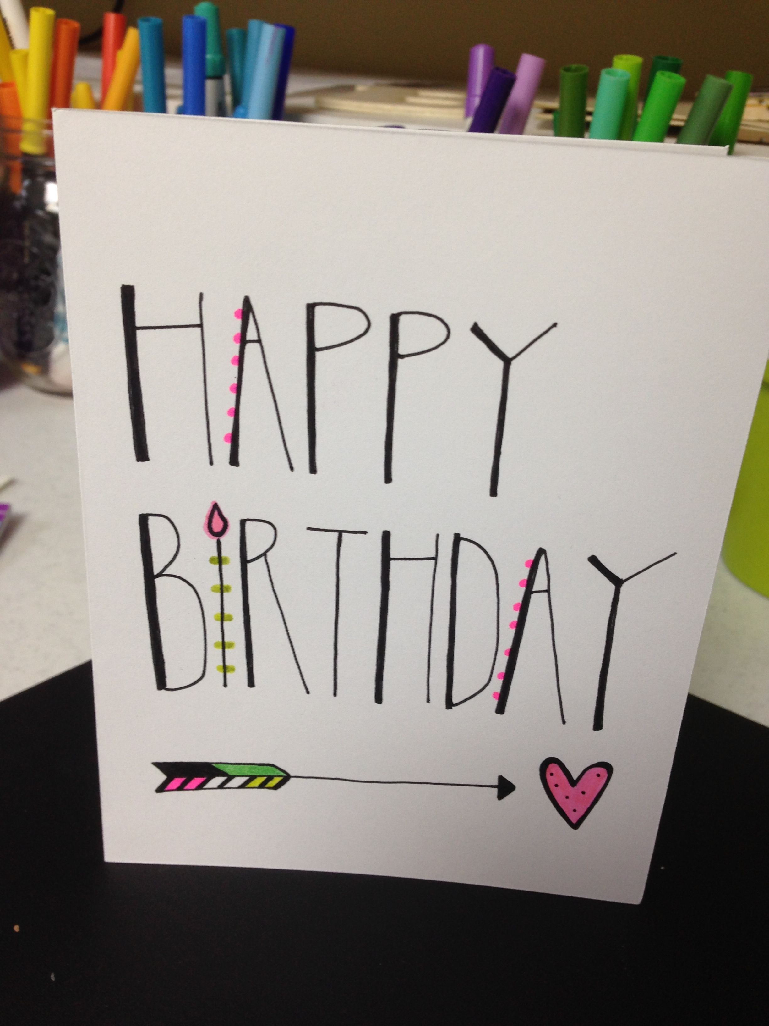 Hand Lettered Birthday Card My Projects Pinterest Cards Mom