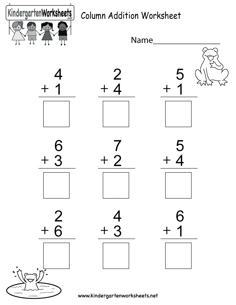 This Is An Addition Worksheet For Kindergarteners You Can Download K Kindergarten Addition Worksheets Kindergarten Math Worksheets Addition Addition Worksheets