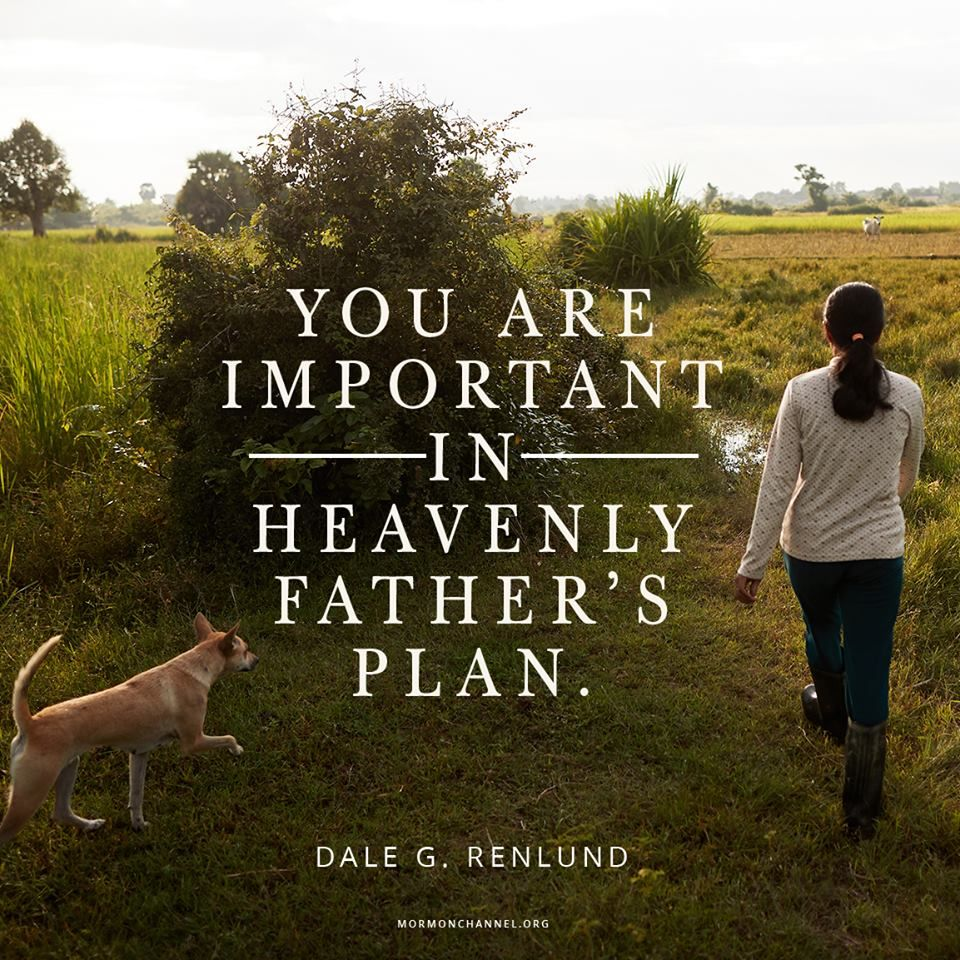 """Remember,     """"You are important in Heavenly Father's plan"""