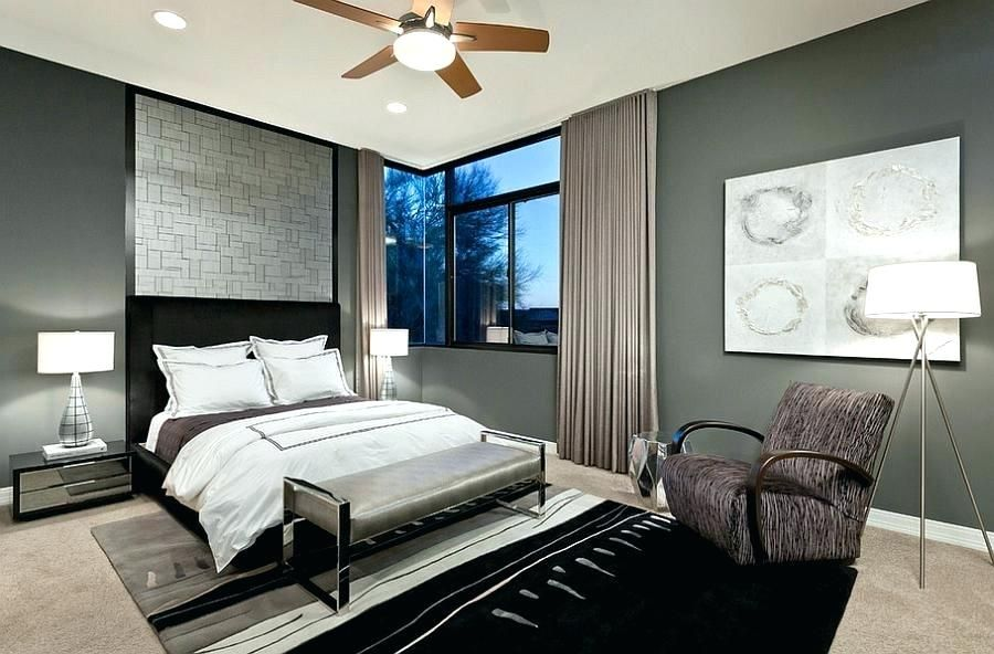 12 Magnificent Male Bedroom Color Schemes Grey Bedroom Design Contemporary Bedroom Bedroom Design