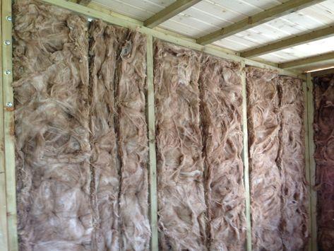 Holz Gartenhaus dämmen Das Material und was noch zu