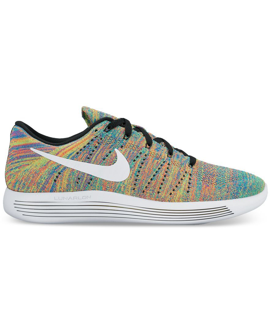 cheap for discount e46a3 08ca8 Nike Men's LunarEpic Low Flyknit Running Sneakers from ...
