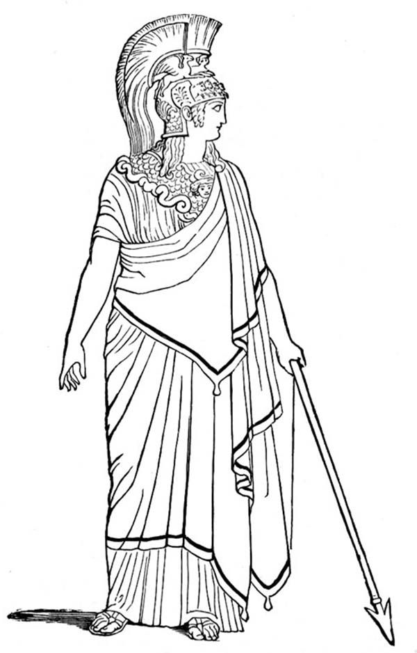 Ancient Rome Goddess of War Coloring Page | Coloring pages for ...