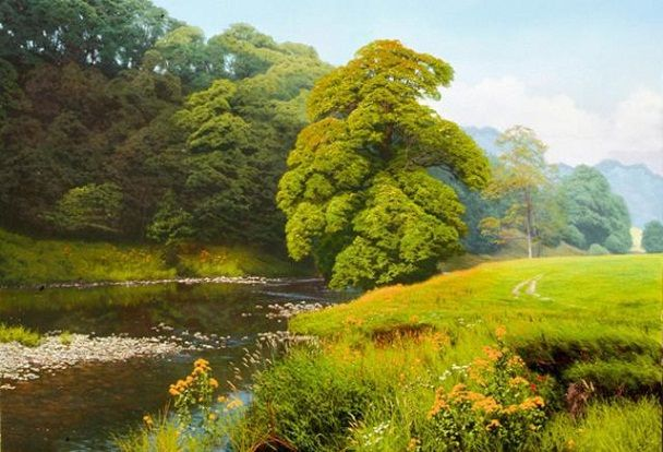Forest oil paintingslandscape oil paintings by british for Michael james smith paintings