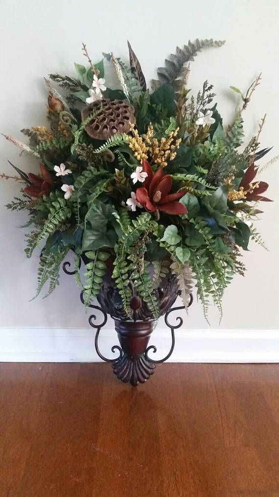 Elegant Traditional Italian Old World Decor Wall Sconce ... on Wall Sconce Floral Arrangements Arrangement id=37906