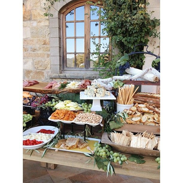 "Italian Themed Wedding Ideas: ""Pretty Unbelievable 16' Long Antipasti Station For This"