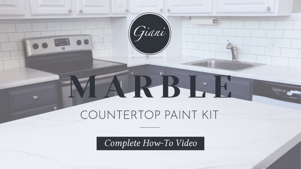 Giani Diy Marble Countertop Paint Kit Epoxy Topcoat In 2020