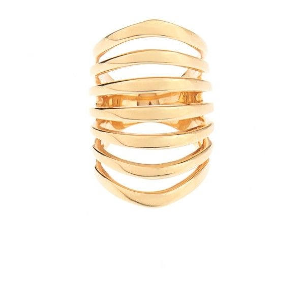 Theodora Warre Gold-plated multi-bar ring ($171) ❤ liked on Polyvore featuring jewelry, rings, bohemian jewelry, band rings, boho rings, gold plated jewellery and band jewelry