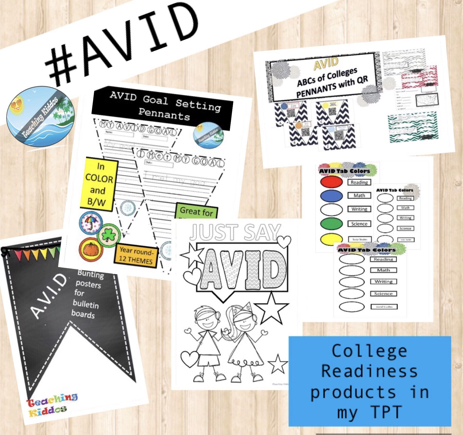 """AVID"" Insprired College Pennants With QR Codes"