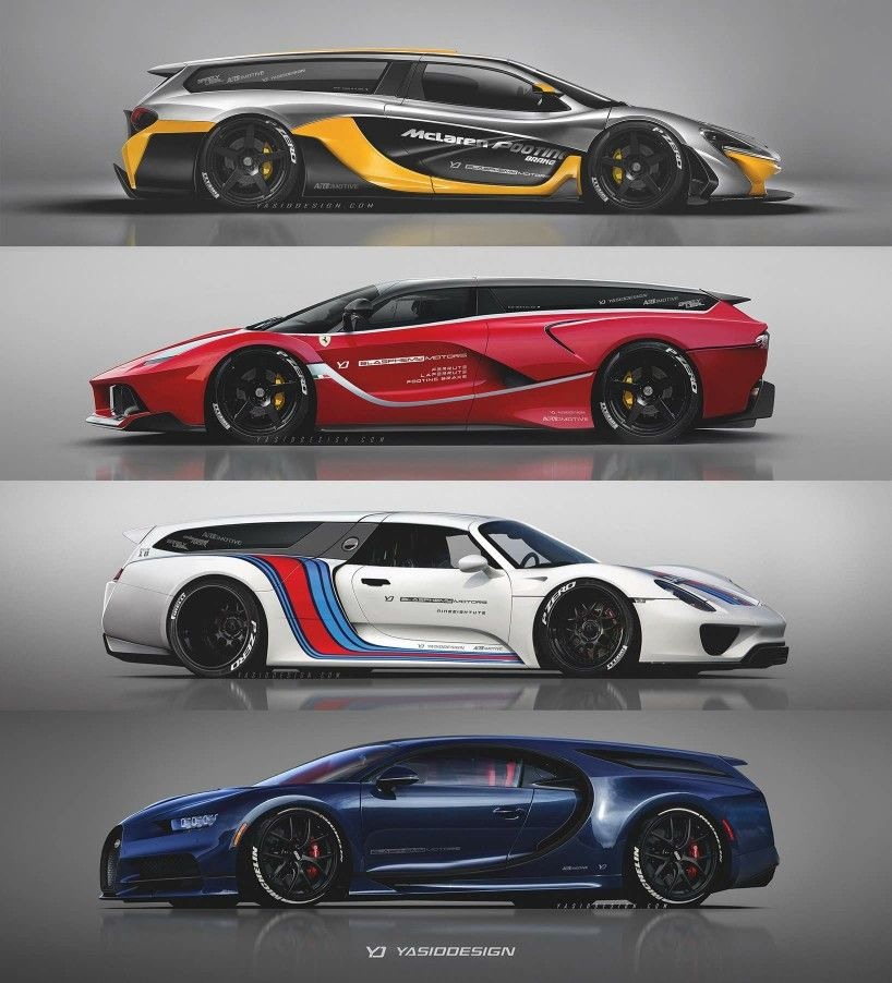Supercar Wagon Rendering Super Cars Cars Super Luxury Cars