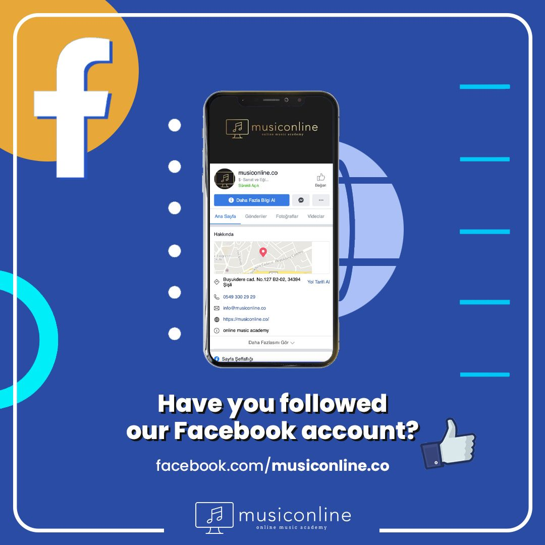 Follow us to be informed about our online courses, blog posts, sweepstakes, free trial lessons and events✌   #musiconline #onlinemusic #FacebookPage #socialist #SocialMediaNews #facebook_page #PianoLessons #ViolinLessons #FacebookPages #MusicLesson #MusicEducation #MusicLessons #MusicAcademy