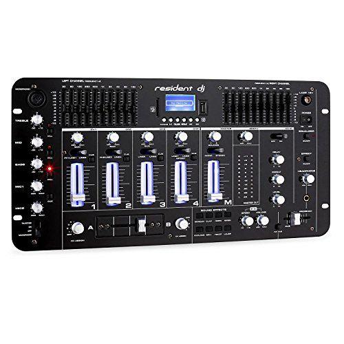 Offerta Di Oggi Resident Dj Kemistry 3bk Dj Mixer Mixer 4 Canali Bluetooth Porta Usb Capacita Mp3 10 Bande Eq Rca Connector Speakers For Sale Usb
