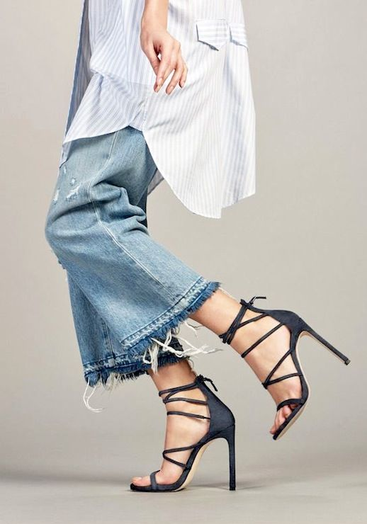 Weekend Style  Cropped Denim And Strappy Sandals (Le Fashion ... a3c7965003e