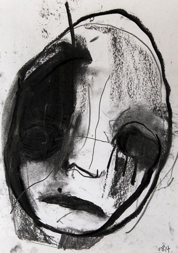 HEAD 2 charcoal on paper FR 50 x 41 cm $850