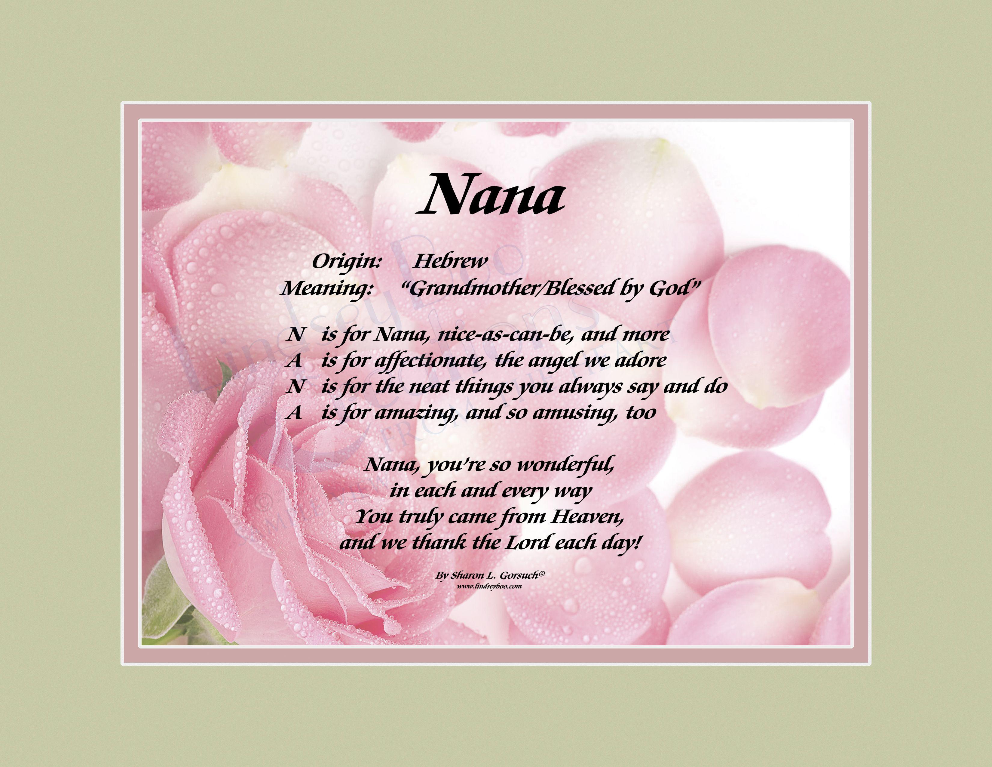 Welcome To Lindseyboo Creations Nana Quotes Nana Poems Nana Birthday
