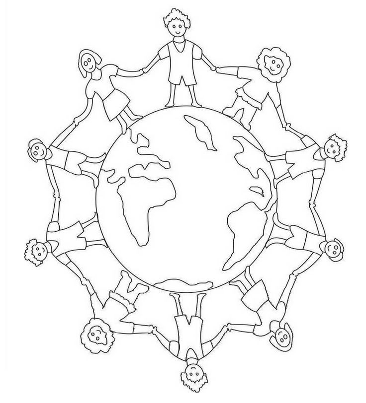 Children Around The World Coloring Pages Free Coloring Kids
