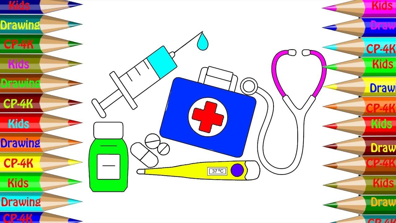 Medical Doctor Kit Coloring Book