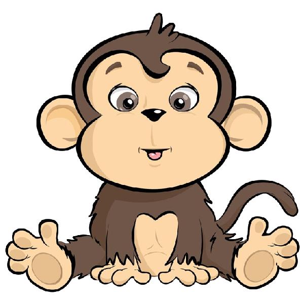 Cartoon Monkeys Kartu Bayi Kartun Monyet