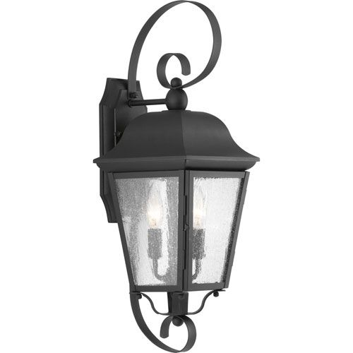 P560011 031 Kiawah Black Two Light Outdoor Wall Mount Progress Lighting Wall Mounted Ou Wall Lantern Outdoor Wall Lantern Progress Lighting