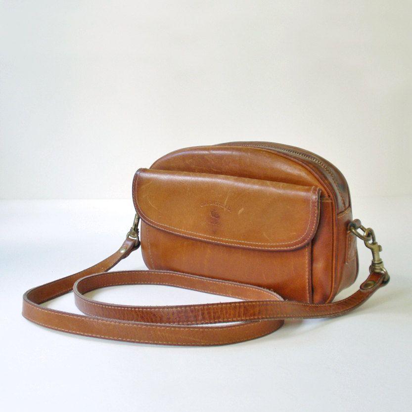 Vintage G H Bass And Co Leather Handbag Crossbody Shoulder Strap 24 00 Via Etsy