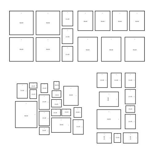 Ikea Mtteby Wall Template Set Of 4 Create A Personal Collage With