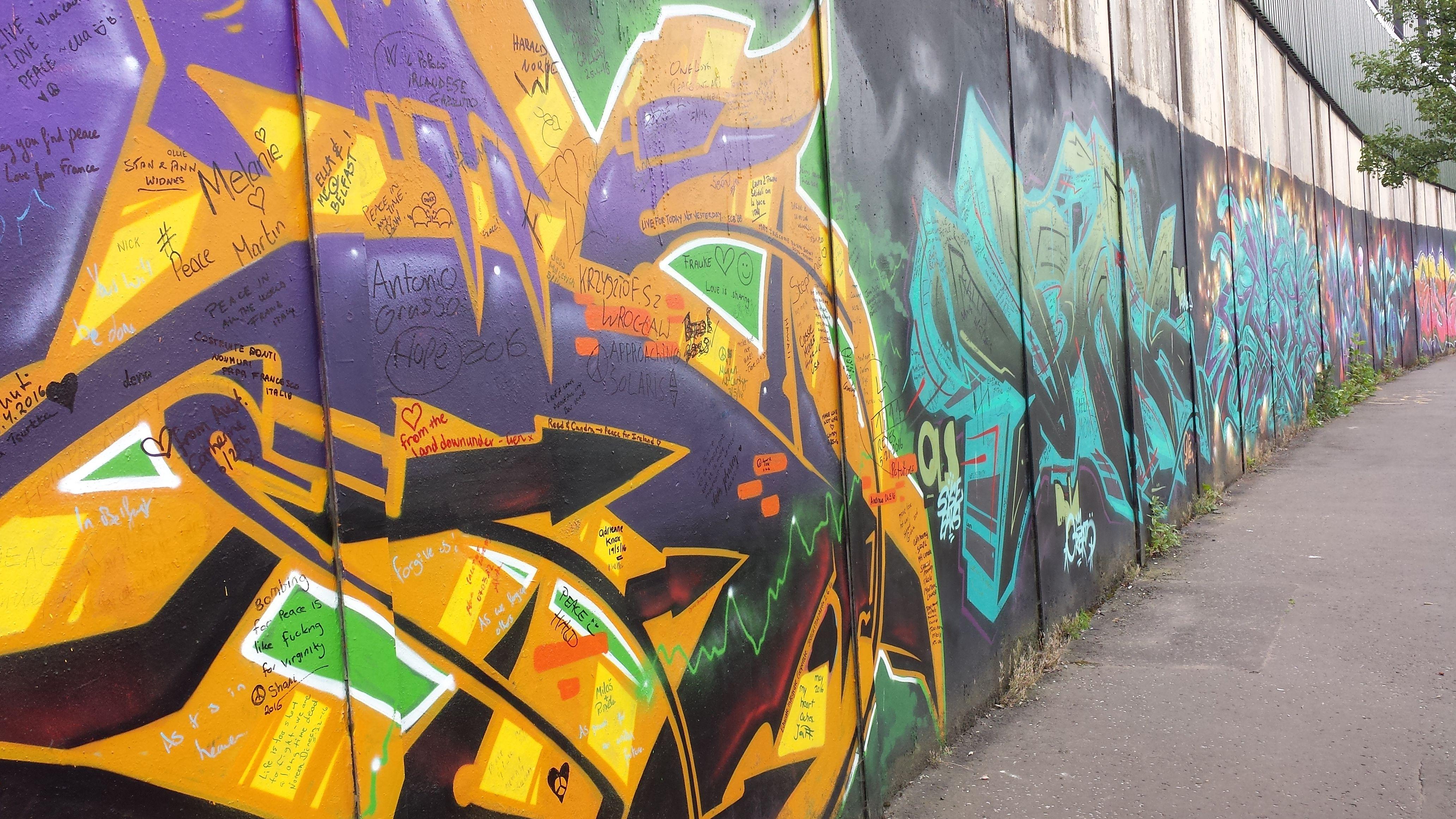 The Peace Wall, Belfast, Northern Ireland