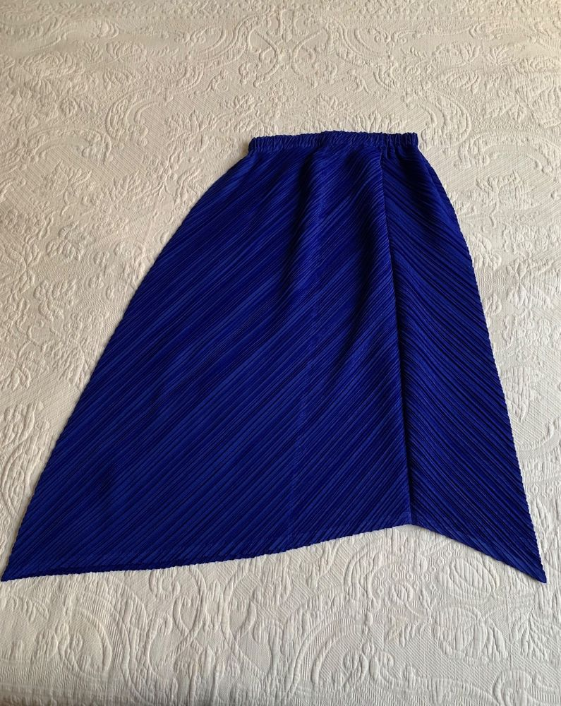 NWOT Issey Miyake Pleats Please Blue Pleated Skirt Size 5 (Japan)  fashion   clothing  shoes  accessories  womensclothing  skirts (ebay link) ddbd56b25e