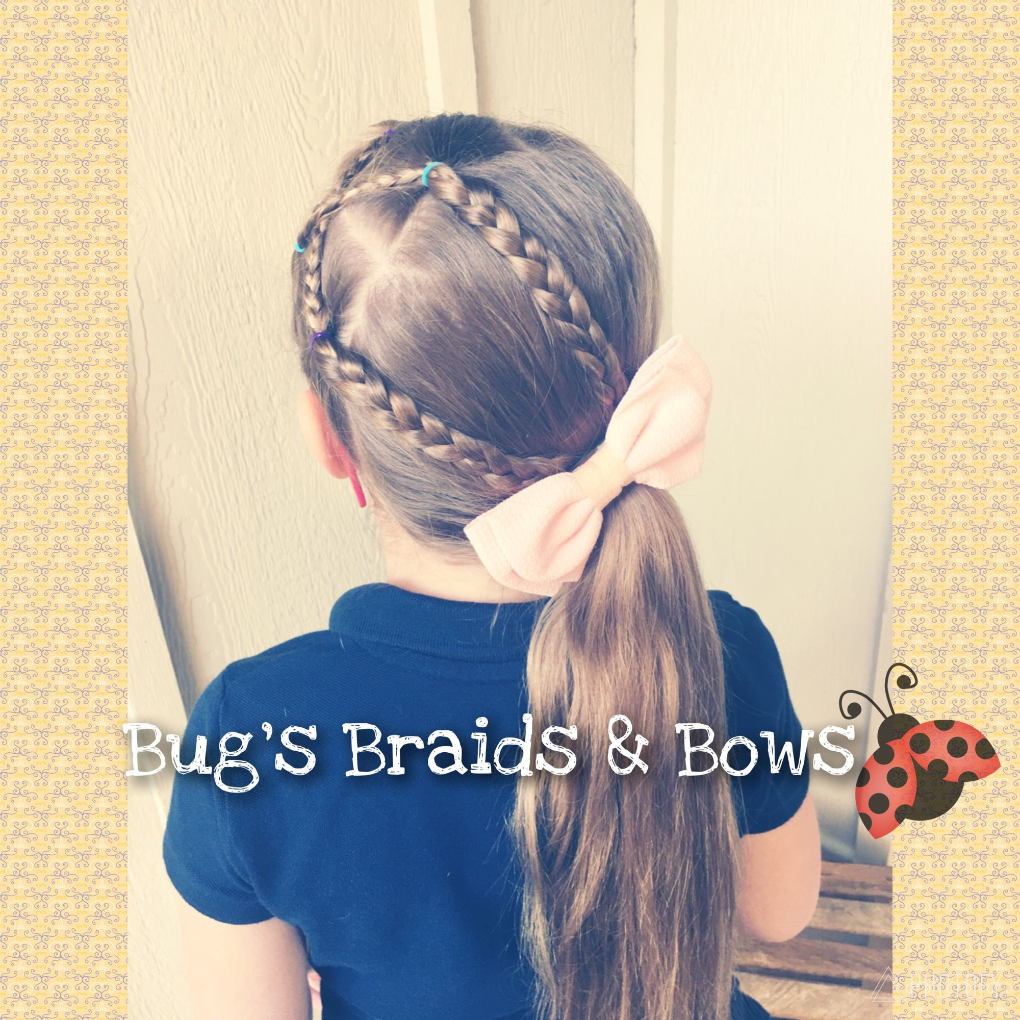 Cute accent braid style inspired by Toddler Hair Ideas 💕 # ...