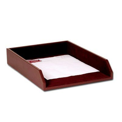 Dacasso Chocolate Brown Genuine Leather Letter Holder Great Gift! BRAND NEW