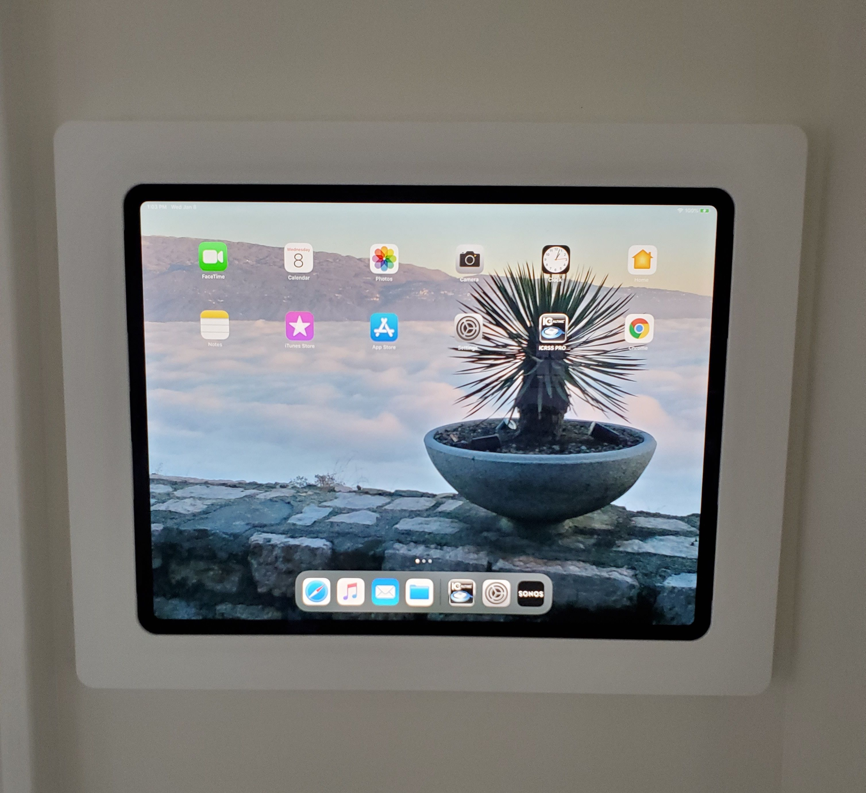 Have The New Ipad Pro 11 0 Or 12 9 We Have Enclosures For Those Too Come See More Of Our On Wall Mount For In 2020 Ipad Wall Mount Ipad Mount Smart Home Technology
