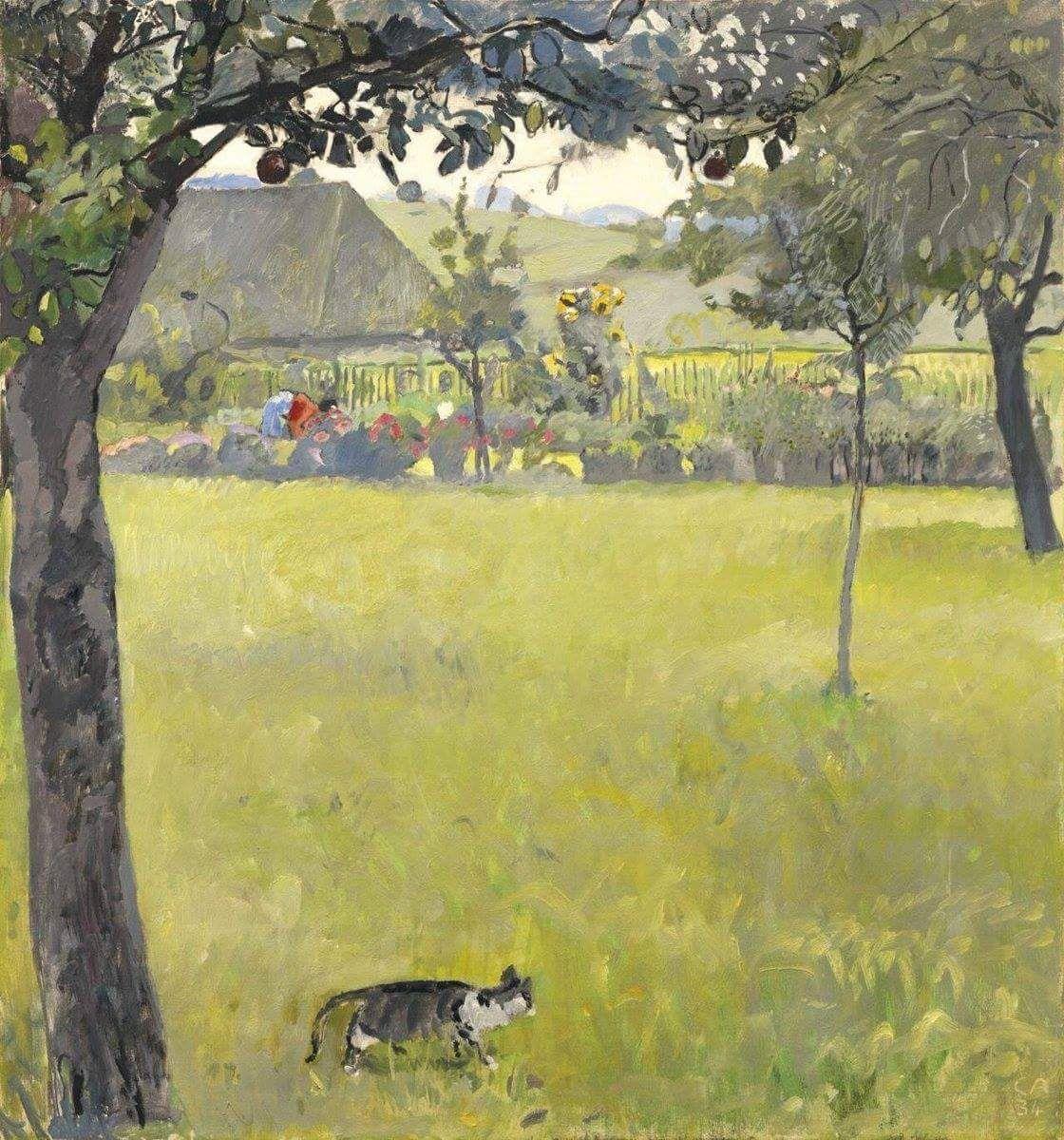 Cuno Amiet Sommerliche Gartenlandschaft - 1934